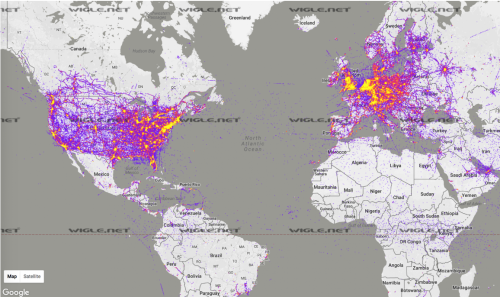 global electropollution map
