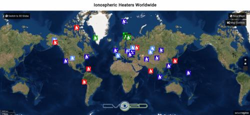 ionospheric heaters worldwide