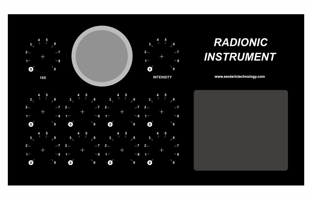 Thumb ten dial radionic instrument panel art