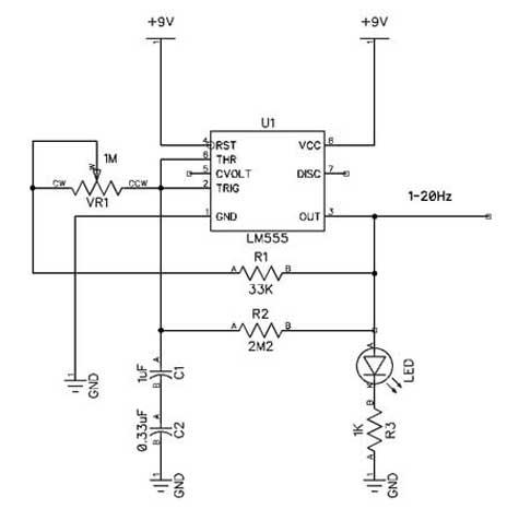 LM555 1-20Hz Generator