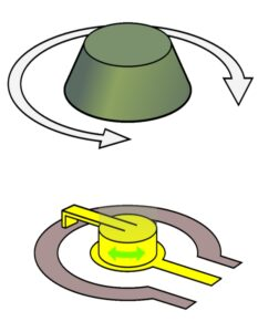 Diagram of potentiometer wiper
