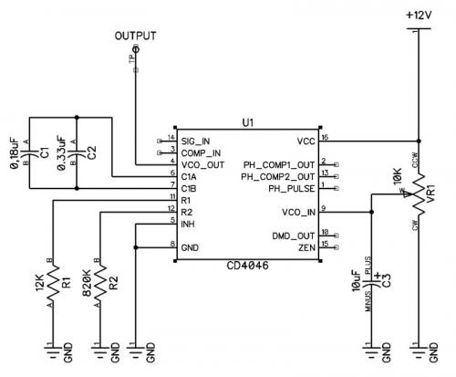 cd4046 variable elf oscillator